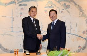 Park Won-soon, Mayor of Seoul, Meets with Yukio Hatoyama, Former Prime Minister of Japan