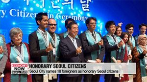 Seoul City names 18 foreigners as honorary Seoul citizens