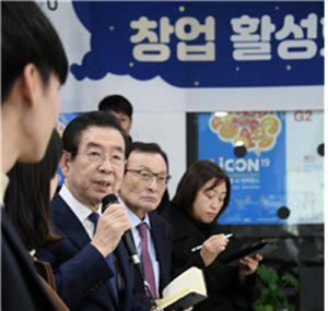 Mayor of Seoul Visits Yangjae Innovation Hub to Discuss Promotion of Start-Ups