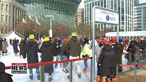 Outdoor skating rink opens at Seoul Plaza and Nodeul Island