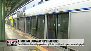 Subway trains in Seoul to finish daily operations by 12 AM starting April