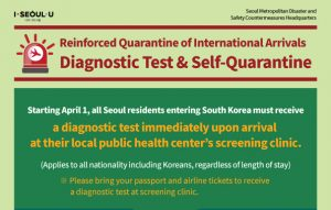 Reinforced Quarantine of International Arrivals (Effective as of April 1) newsletter