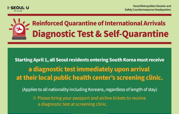 Reinforced Quarantine of International Arrivals (Effective as of April 1)