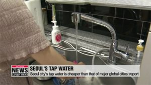 Seoul city's tap water is cheaper than that of major global cities