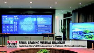Seoul's Digital Mayor's Office allows mayor to hold more effective video conferences with leaders around world