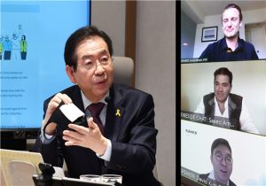 Mayor of Seoul Shares Disinfection Know-How with Stanford's Scholarship Students of via Video Conference