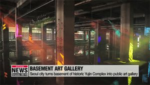 Seoul city turns forbidden basement of Yujin Complex into public art gallery