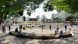 "Seoul Creates Downtown ""Pedestrian Forest Path"""