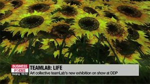Art collective, interdisciplinary group teamLab's new exhibition in DDP