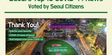 Voting Seoul's Top 10 COVID-19 News by Citizens