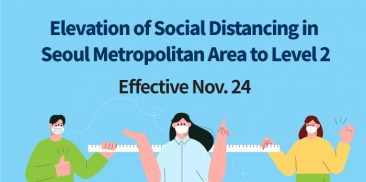 Elevation of Social Distancing to Level 2 for the Seoul Metropolitan Area