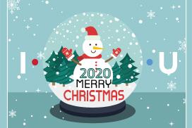 I • Merry Christmas • U