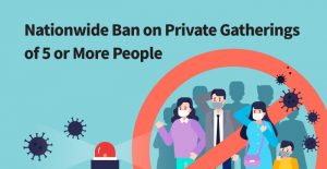 "Plan for Nationwide ""No Gatherings of 5 Persons or More"" Policy"