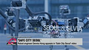 Robotics engineer Dennis Hong appears in 'Safe City Seoul' video