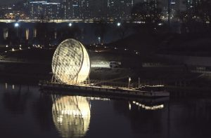 Moonlight Nodeul, An Artificial Moon on Nodeulseom Island in Harmony with Waves of the Hangang River