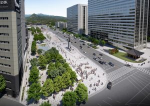 Two-way Traffic for Extended Eastern Road of Gwanghwamun Square Starting Midnight on Sat, Mar. 6