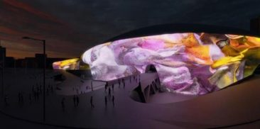 Opening of Seoul Light, 220 Meters of Spring Flowers on DDP Facade