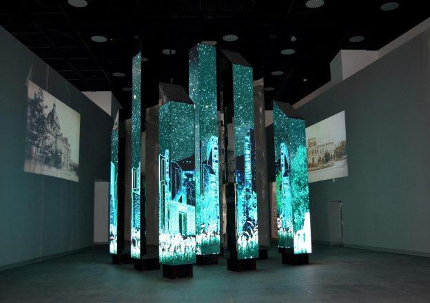 Interior of Yongsan City Memorial Exhibition Hall
