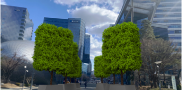 "Seoul to create eight more ""modular parks"" with trees that provide shade over concrete grounds"