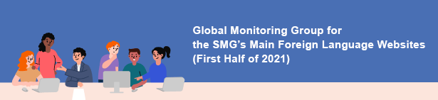 Global Monitoring Group for the SMG's Main Foreign Language Websites (First Half of 2021)