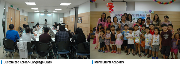 Customized Korean-Language Class, Multicultural Academy