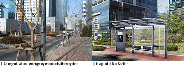 An urgent call and emergency communications system, Image of U-Bus Shelter