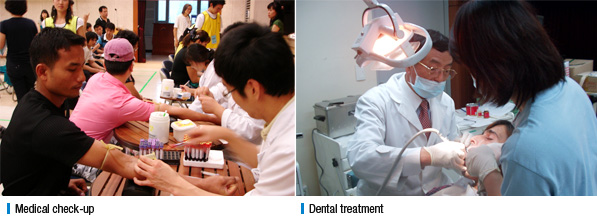 Medical check-up, Dental treatment