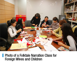 Photo of a Folktale Narration Class for Foreign Wives and Children