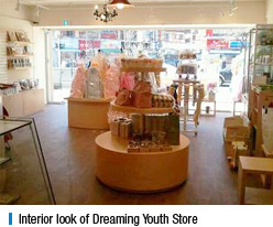 Interior look of Dreaming Youth Store
