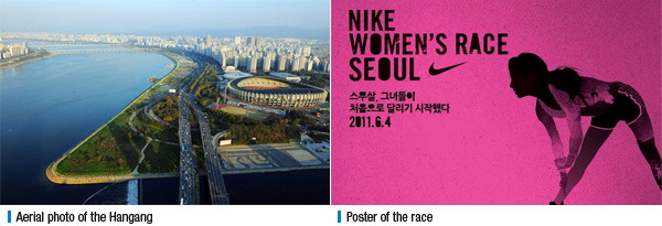 Aerial photo of the Hangang 