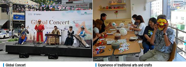 Global Concert, Experience of traditional arts and crafts