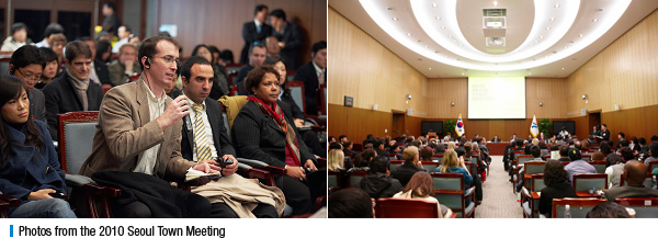 Photos from the 2010 Seoul Town Meeting