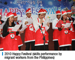 2010 Happy Festival (skills performance by migrant workers from the Philippines)