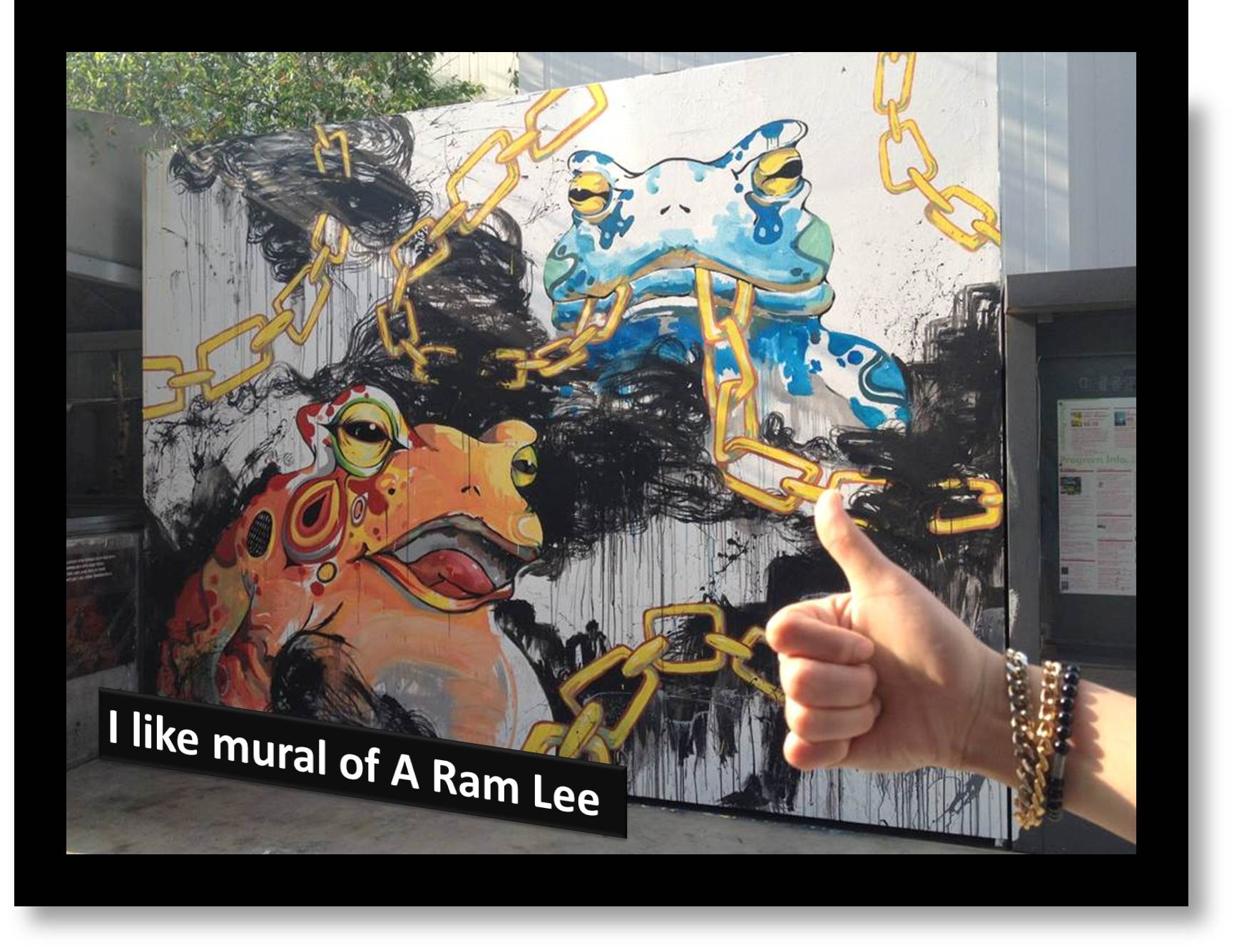 1st mission of 2013 - I LIKE mural of A Ram Lee