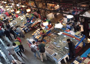 Fresh seafood in Noryangjin Fisheries Wholesale market