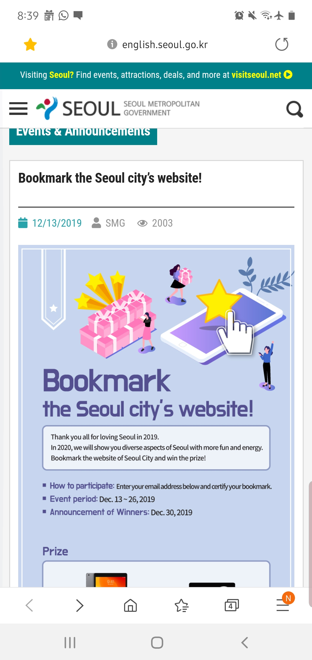 Seoul recognized as model city for disaster risk management by the United Nations